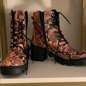 NWOT Madden Girl snakeskin boots
